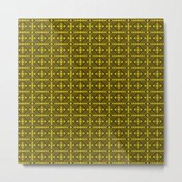 String Gem Diamond Art Deco Gold Copper Black Design Pattern Metal Print