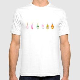 Champagne Bottles Watercolor T-shirt