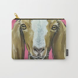 Goat Art, Farm Animal Painting, Cute Animal Art Carry-All Pouch