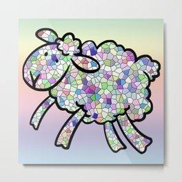 Mosaic Lamb Metal Print