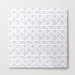 2 Tone Triangles Metal Print
