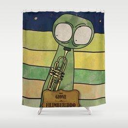 Filiberiddo from Jupiter (Trumpet) Shower Curtain