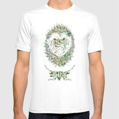Little Hadgehog White Mens Fitted Tee MEDIUM