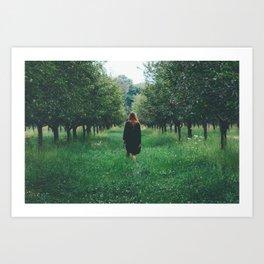 Wandering. Art Print