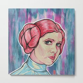 Rebel Princess Metal Print