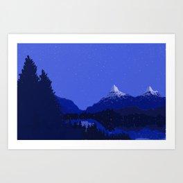 The Night Lake Art Print