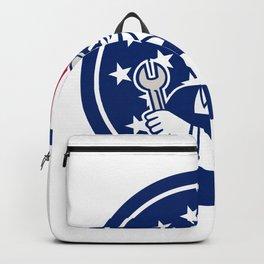 American Engineer USA Flag Icon Backpack