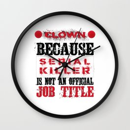 Halloween Costume Horror Clown Scared Serial Killer Coulrophobia Fun Wall Clock