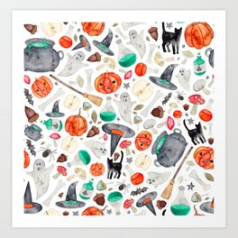 Halloween Pattern Art Print