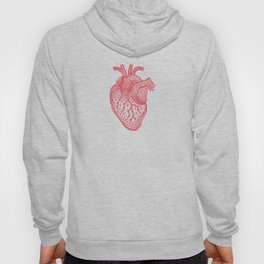 abstract red heart Hoody