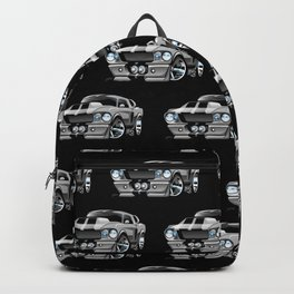 Classic Sixties American Muscle Car Cartoon Backpack