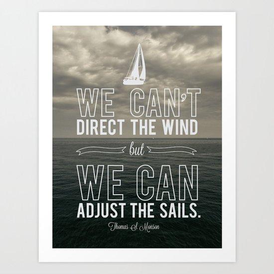 Adjust the sails Art Print