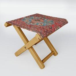 Bidjar Antique Kurdish Northwest Persian Rug Print Folding Stool