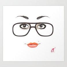 Hipster Eyes 3 Art Print