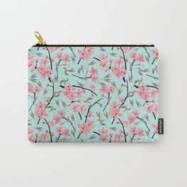Cherry Blossom Pattern(sky) Carry-All Pouch