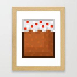MineCake Framed Art Print