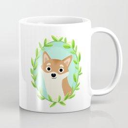 Flower Shiba Inu Coffee Mug