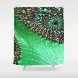 Carnival Green Shower Curtain
