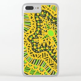 Doodle 16 Yellow Clear iPhone Case