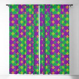 Mardi Gras Fleur-de-Lis Pattern Blackout Curtain
