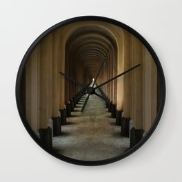 Tunnel of arches Wall Clock