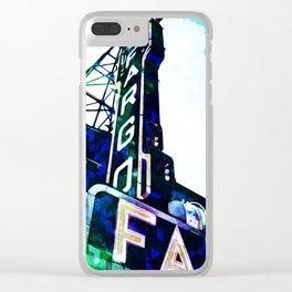Blue Fargo Theatre Clear iPhone Case