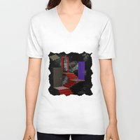 nightmare V-neck T-shirts featuring nightmare by Ancello