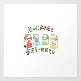 Cruelty free milk Art Print
