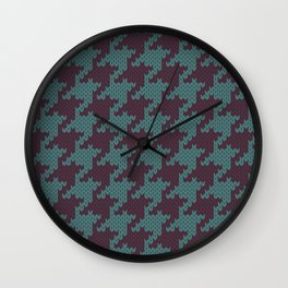 Faux Retro Hounds-tooth Knit Wall Clock