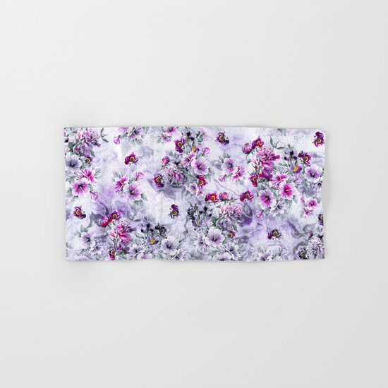 Floral Ocean Soft Hand & Bath Towel