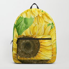 Sunflowers watercolor Backpack