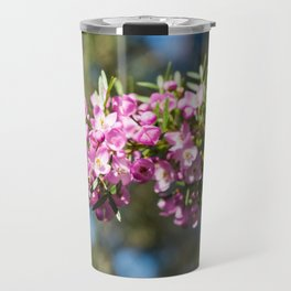 Small Pink Boronia, Muogamarra Nature Reserve, Sydney Travel Mug