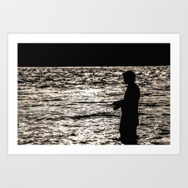 Fisherman II  Art Print