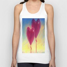 Love heart Balloons Unisex Tank Top