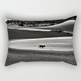 Walking alone through the desert of life Rectangular Pillow