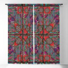 no. 124 red orange purple pattern Blackout Curtain
