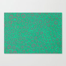 Turquoise dots Canvas Print