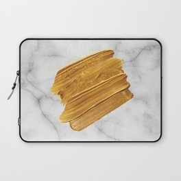 Gold on Marble Laptop Sleeve