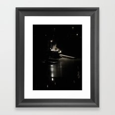 Lakefront Lighting Framed Art Print