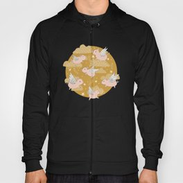 When Pigs Fly in Gold Hoody