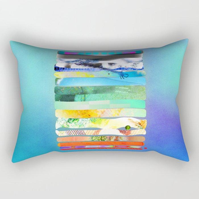 COLLAGE LOVE - a Princess and a pea  Rectangular Pillow
