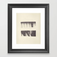 Monotype: Stairs Framed Art Print