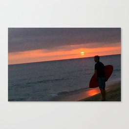 Sunset Skimboard Canvas Print