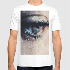Open up my eyes White MEDIUM Mens Fitted Tee