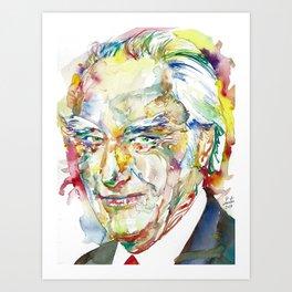 FRANCIS CRICK - watercolor portrait Art Print