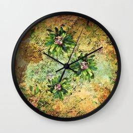Green Flowers of the Grandmother Garden! Wall Clock