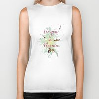 narnia Biker Tanks featuring See you in Narnia by Sybille Sterk
