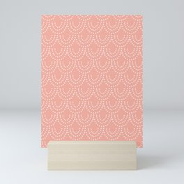 Dotted Scallop in Pink Mini Art Print
