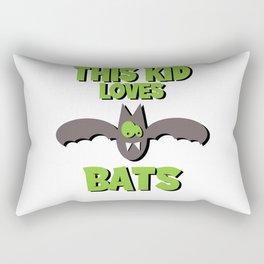This Kid Loves Bats I Kids Bat Kids Motif Rectangular Pillow