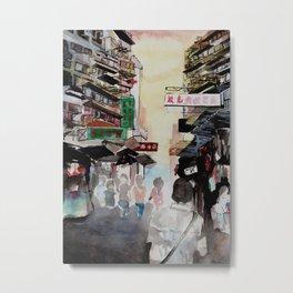 Streets of Hong Kong III Metal Print
